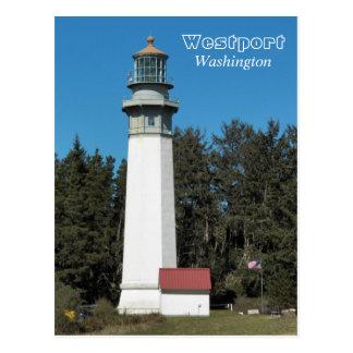 Westport, foto del viaje del faro de Washington Postales