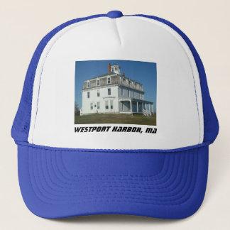 Westport Harbor, MA Historical Architecture Trucker Hat