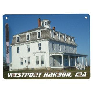 Westport Harbor, Mass Dry Erase Board With Keychain Holder