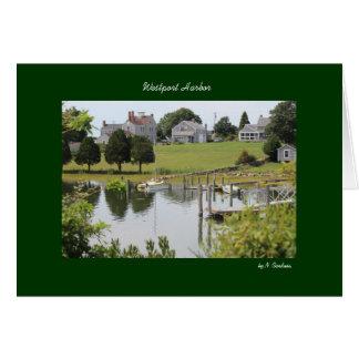 Westport Harbor w/ Green Border Card