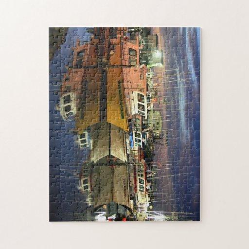 Westport Marina at Dusk Jigsaw Puzzle