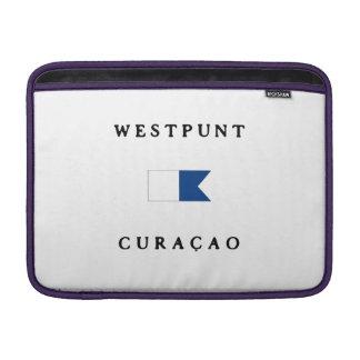 Westpunt Curacao Alpha Dive Flag MacBook Sleeve