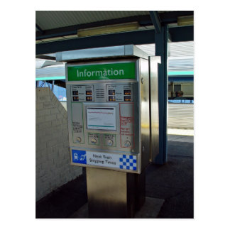 WestRail/TransPerth timetable display Postcard