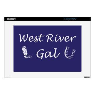 WestRiverGalBlue.jpg Skin For Laptop