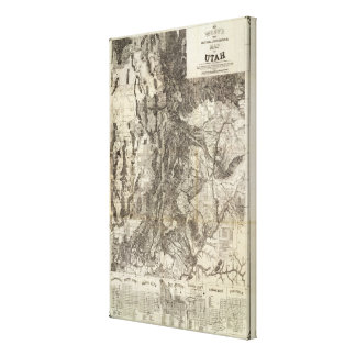West's New Sectional and Topographical Map Of Utah Canvas Print