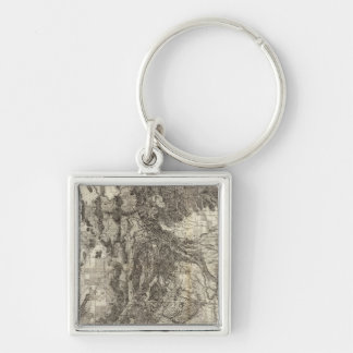 West's New Sectional and Topographical Map Of Utah Keychain