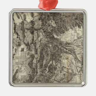 West's New Sectional and Topographical Map Of Utah Metal Ornament