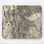 West's New Sectional and Topographical Map Of Utah Mouse Pad