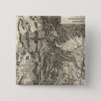 West's New Sectional and Topographical Map Of Utah Pinback Button