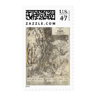 West's New Sectional and Topographical Map Of Utah Postage Stamp