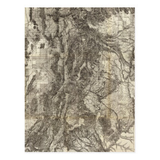 West's New Sectional and Topographical Map Of Utah Postcard