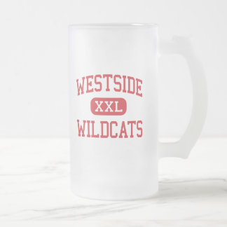 Westside - Wildcats - High - Memphis Tennessee Frosted Glass Beer Mug