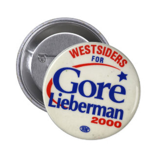 Westsiders para Gore-Lieberman Pins
