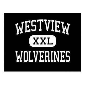 Westview - Wolverines - High - San Diego Postcard