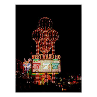 Westward Ho Las Vegas Marquee Poster