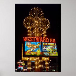 Westward Ho Las Vegas Marquee Poster Print