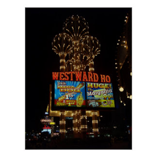 Westward Ho Las Vegas Poster Print
