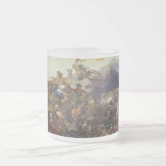 Westward the Course of Empire Takes Its Way Frosted Glass Coffee Mug