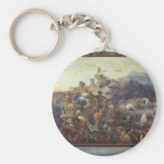 Westward the Course of Empire Takes Its Way Keychain