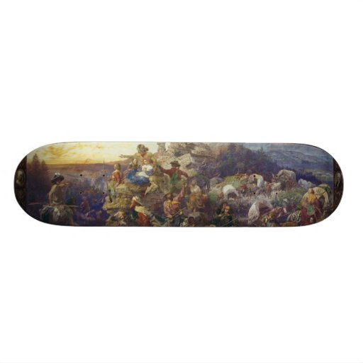 Westward the Course of Empire Takes Its Way Skate Board Decks