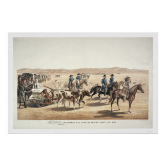 Westward the Star of Empire Takes Its Way Print