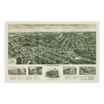 Westwood, mapa panorámico de NJ - 1924 Poster