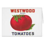 Westwood Tomatoes - Vintage Fruit Crate Label Card