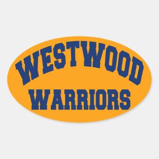 Westwood Warriors Oval Sticker