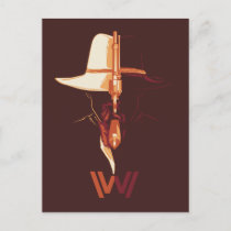 Westworld   White Hat Black Hat Split Graphic Postcard