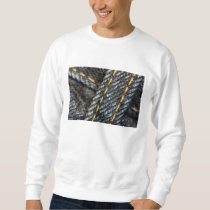 wet and denim sweatshirt