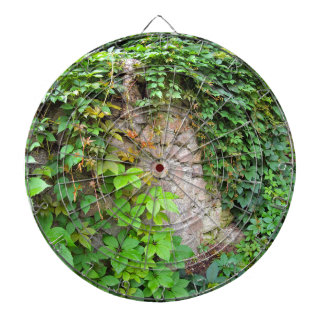 Wet and green shoots of wild grapes dart boards