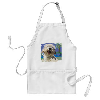 Wet and Happy Adult Apron