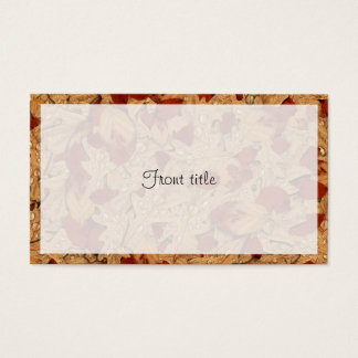 Wet Autumn Leaves Business Card