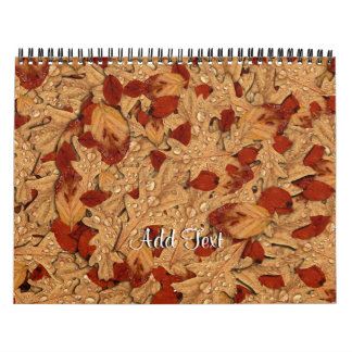 Wet Autumn Leaves Wall Calendars