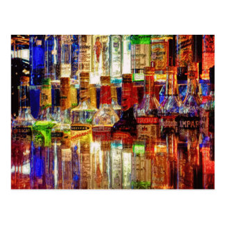 Wet Bar Abstract Art Postcard