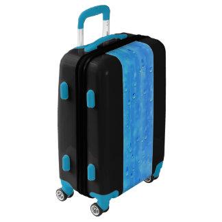 Wet Blue Luggage Suitcase