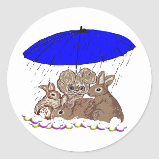 Wet Bunnies Classic Round Sticker