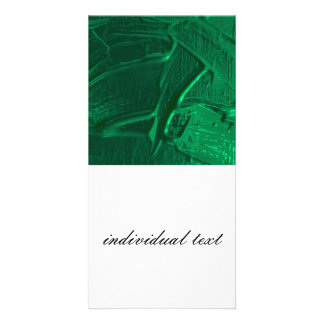wet color texture,green photo card
