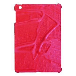 wet color texture,hot pink iPad mini case