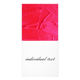 wet color texture,hot pink photo card