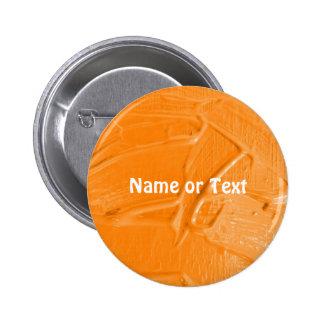 wet color texture,orange 2 inch round button