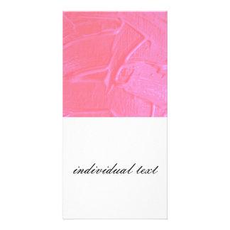 wet color texture,pink candy personalized photo card