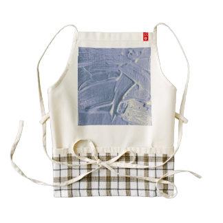 wet color texture,soft blue zazzle HEART apron