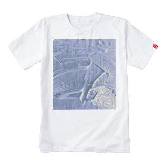 wet color texture,soft blue zazzle HEART T-Shirt