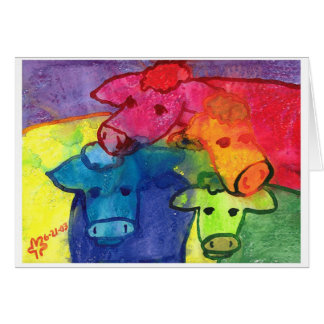 Wet Cows Greeting Card