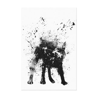 wet dog canvas prints