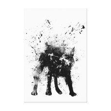 wet dog canvas print