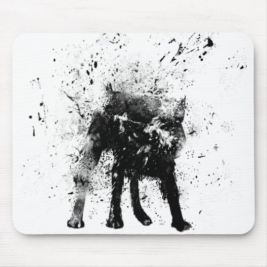 wet dog mouse pad