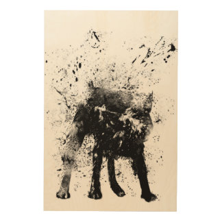 Wet dog wood wall art