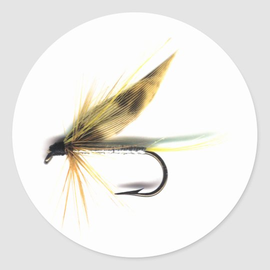 Wet Fly (Cumming's) Classic Round Sticker